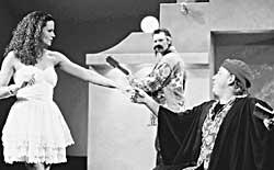 Nicole Winkler & Tim Richards in The Taming of the Shrew (Bell Shakespeare Co.)